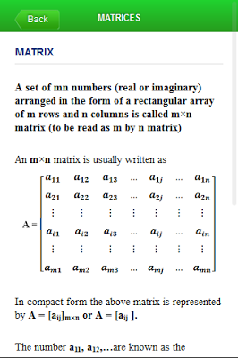 Matrices and Determinants - screenshot