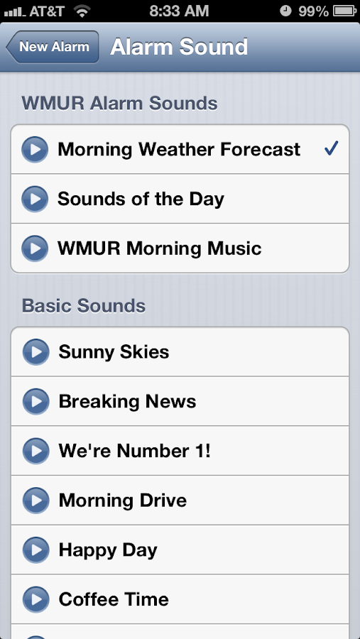 Alarm Clock WMUR New Hampshire - screenshot