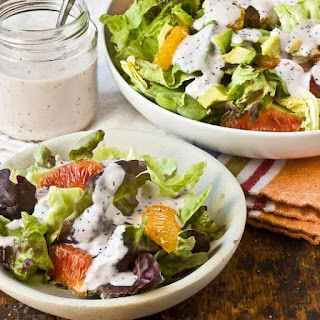 Late-Winter Salad with Strawberry Poppy Seed Dressing
