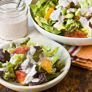 Late-Winter Salad with Strawberry Poppy Seed Dressing.