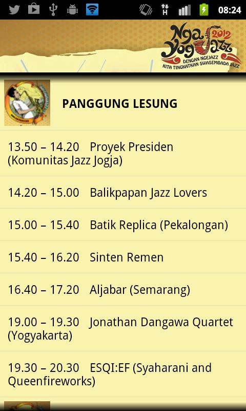 Ngayogjazz 2012 - screenshot