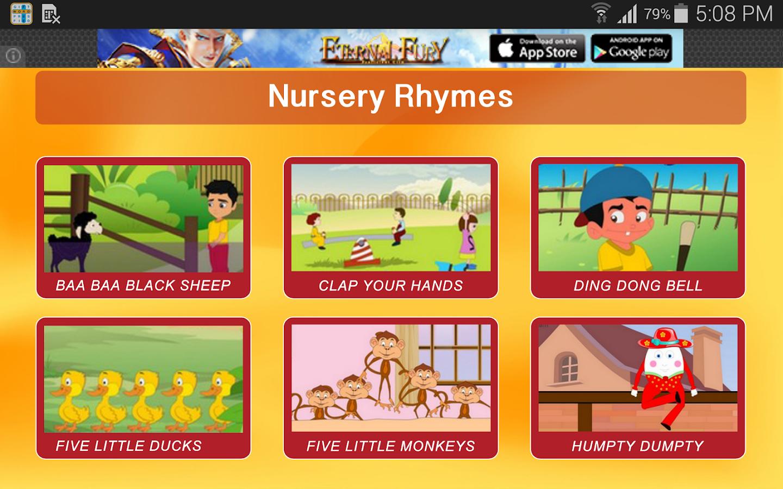 Nursery Rhymes Videos Vol1 Screenshot
