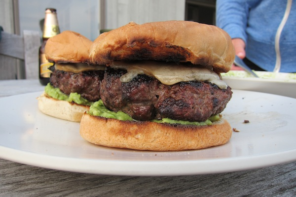 Cheddar Cheese Burgers with Charred Red Onions Recipe