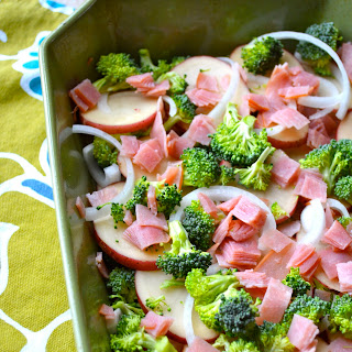 Creamy Potato, Broccoli, and Ham Bake
