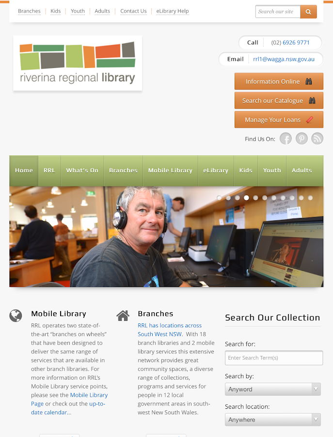 Riverina Regional Library- screenshot