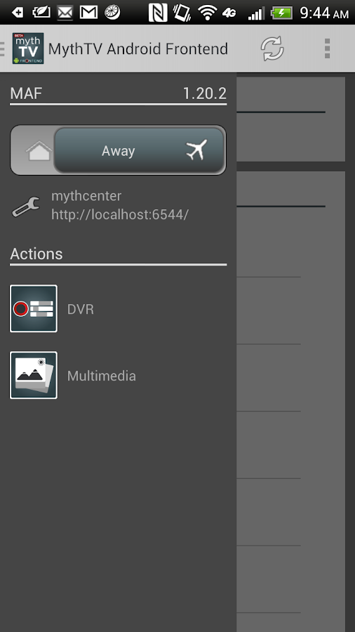 MythTV Android Frontend- screenshot