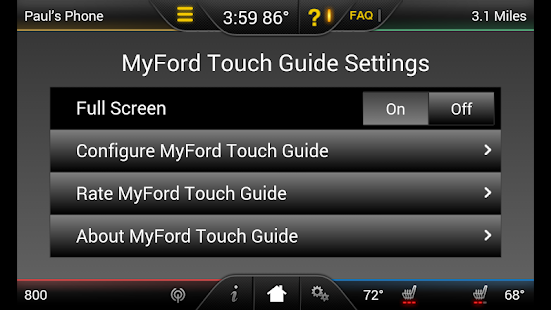 MyFord Touch Guide - screenshot thumbnail