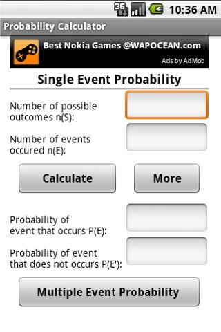 Probability Calculator- screenshot