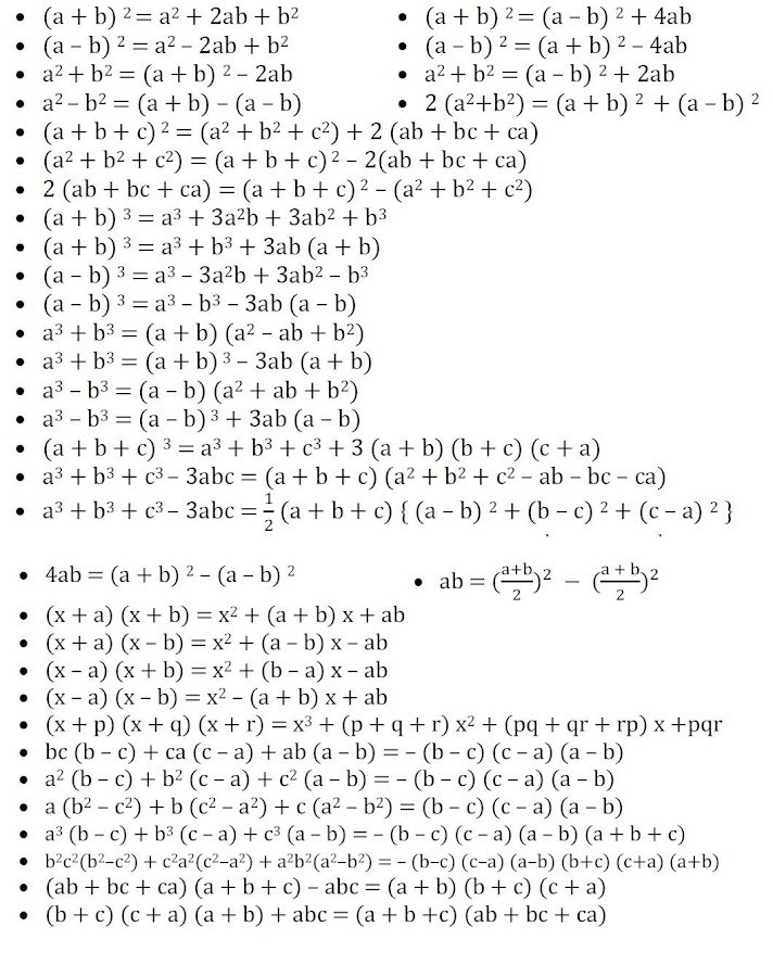 Screenshots of All Math Formula for Android