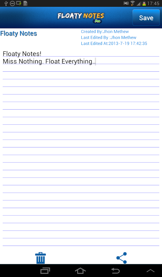 Floaty Notes Pro: Share Notes- screenshot