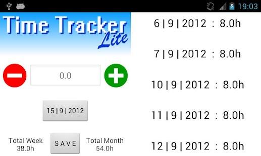 Time Tracker Lite- screenshot thumbnail