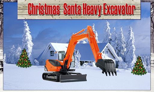 聖誕老人挖掘機挖