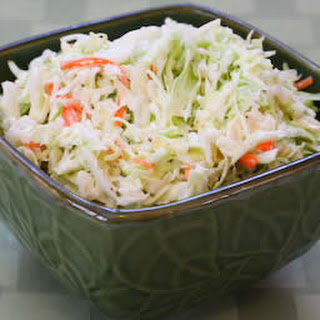 Sugar-Free Coleslaw with Agave Nectar.
