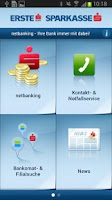 Screenshot of ErsteBank/Sparkasse netbanking