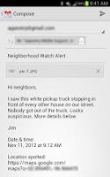 Screenshot of Neighborhood Crime Watch