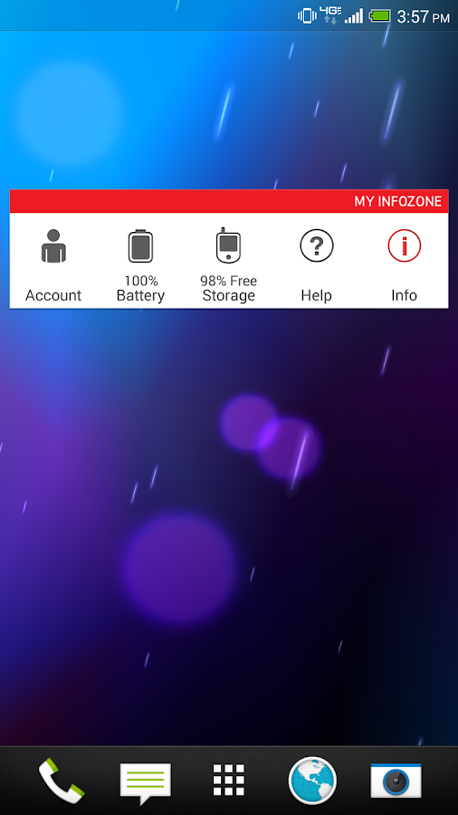 My InfoZone™ Widget - screenshot