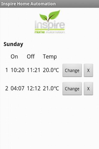 Home Automation Remote Heating - screenshot