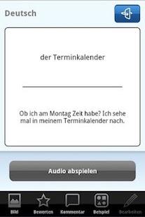 Deutsch Vokabeltrainer – Miniaturansicht des Screenshots