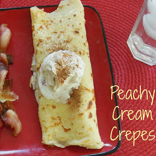 Peachy Cream Crepes for Brunch