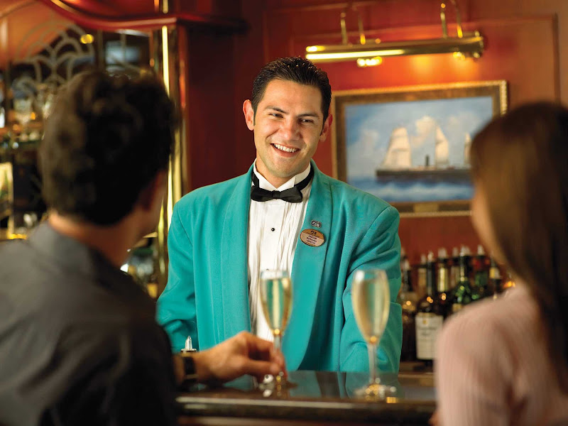 Look for attentive service from the crew's wait staff during your Princess cruise.