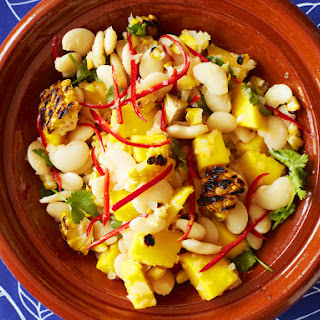 Chargrilled Corn and Lima Bean Salad with Mango and Mojo Criollo Recipe