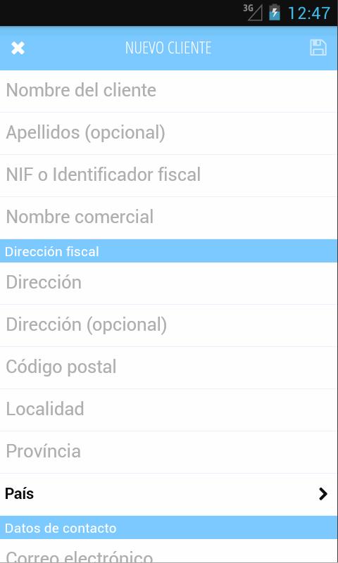 Facturas con FacturaDirecta - screenshot