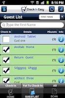Screenshot of Check In Easy Guest List App
