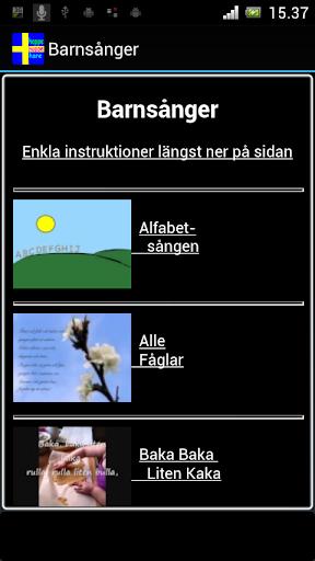 Barnsånger Svenska