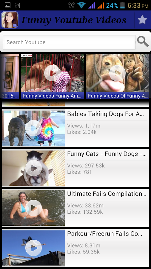 Screenshots of Funny Youtube Videos for Android