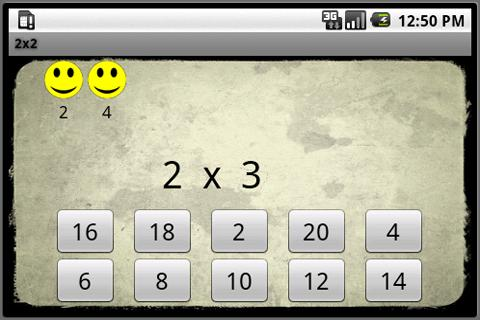 2x2 Multiplication Tables- screenshot