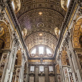 St. Peter's Basilica  by Danny Andreini - Buildings & Architecture Places of Worship ( building, beautiful, travel, gold, architecture, vatican, basilica, light, italy )