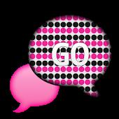 GO SMS - Polka Dot Princess