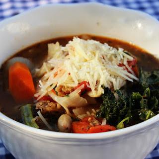 Tuscan Kale Bean Sausage Soup
