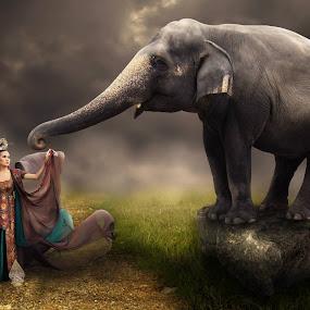dewi gajah by Muhamad Anshorullah - Digital Art Things ( Emotion, portrait, human, people )