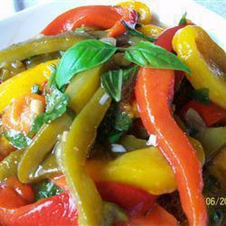 Marinated Roast Peppers Recipe
