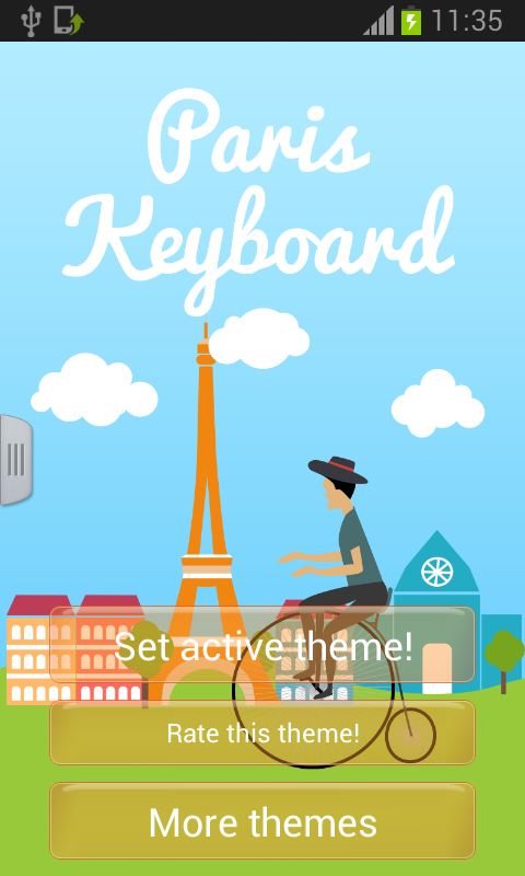 Paris Keyboard Free - screenshot