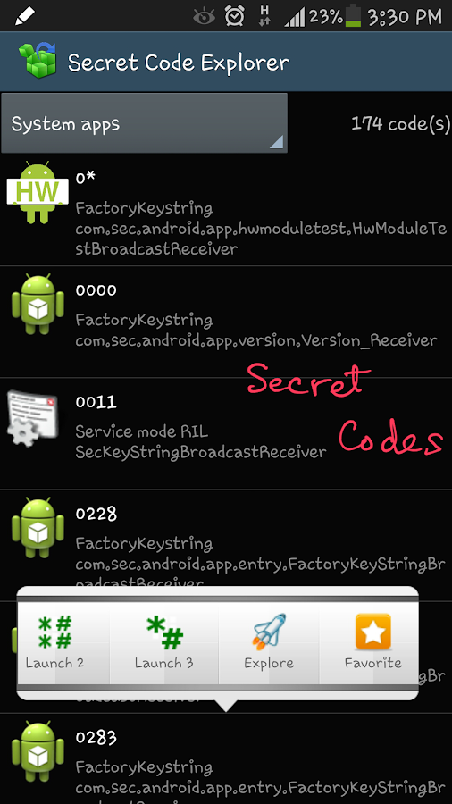 Shortcut Master (Secret Codes)- screenshot