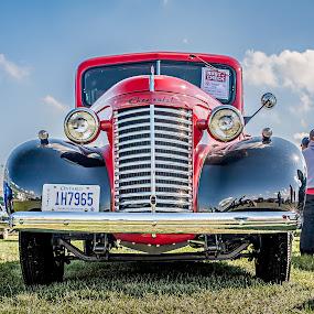 Mirror Finish by Jack Brittain - Transportation Automobiles ( car, paris, canada, pickup, chevrolet, truck, show, ontario, 1940 )