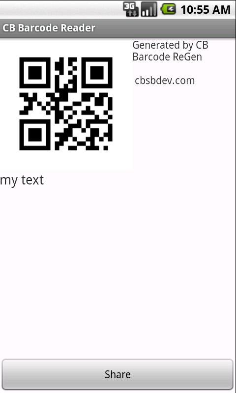 CB Barcode ReGen- screenshot