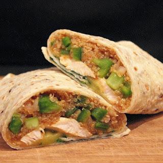 Peri Peri Chicken and Quinoa Wraps.