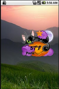 Halloween Weather Widget screenshot 1