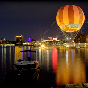 Downtown Disney by Sraddheshnu Basu - City,  Street & Park  City Parks ( water, lake, city park, boat, balloon )