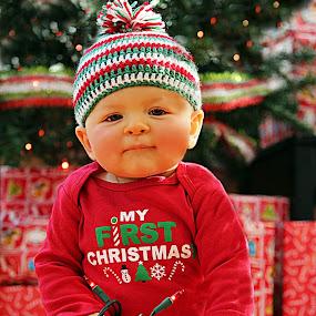 Lil' Christmas elf by Debbie Sodeman-Roelle - Public Holidays Christmas ( holiday, tree, christmas, children, baby,  )