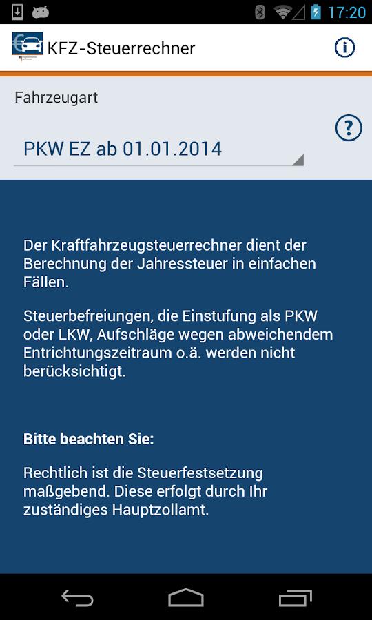 Kfz-Steuer- screenshot