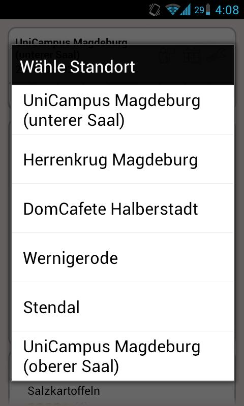 Mensa Magdeburg- screenshot