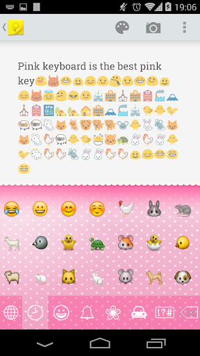 Pink Keyboard -Emoji Emoticons