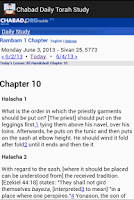 Screenshot of Chabad Daily Torah Study