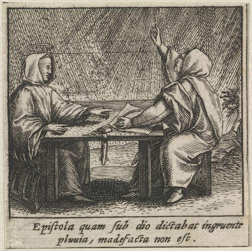 Heilige Bernardus Van Clairvaux Weert De Regen Possibly