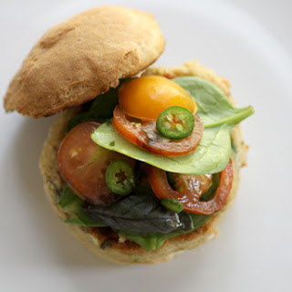 Savory White Bean Burger (gluten-free).