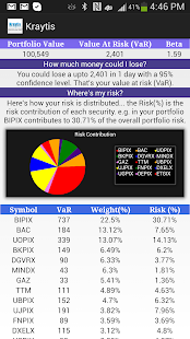 Kraytis Portfolio Risk Manager- screenshot thumbnail